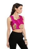 ira-soleil-pink-crop-top-with-gold-tinsel-print