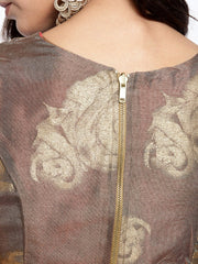 Gold printed Pink and Brown Reversible Top - Ira Soleil
