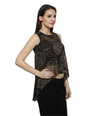 Black all over print high low top - Ira Soleil