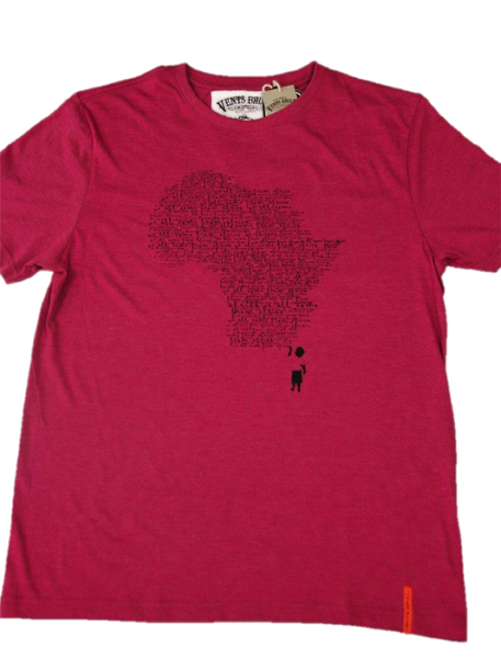 We all Africa T-Shirt by Vents Brull - Burgundy|Vents Brull - 1