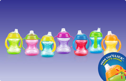 Nuby HK Sale Clik-it Grip N Sip Cup 240ml