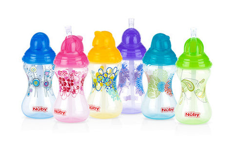 Nuby HK Sale Designer Series No-Spill Clik-it Flip-it 300 ml