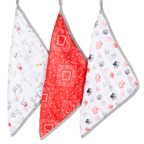 Aden and Anais Hong Kong Classic Washcloth Set Year of Dog