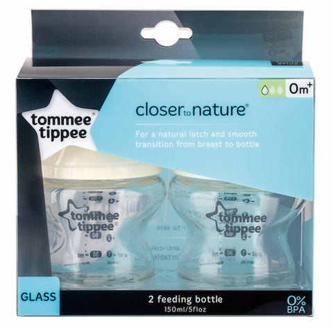 Tommee Tippee HK Sale CTN Glass Bottle 150ml TwinPack