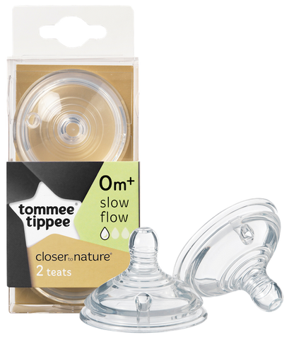 Tommee Tippee HK Sale CTN Teat-Slow Flow Twin Pack