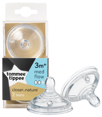 Tommee Tippee HK Sale CTN Teat Medium Flow Twin Pack
