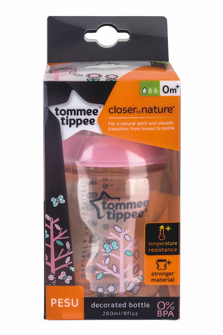 Tommee Tippee HK Sale CTN PESU Decorated 260 ml Pink
