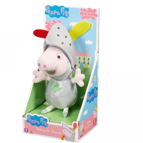 Peppa Pig Talking Sir George 7 inch tall Box
