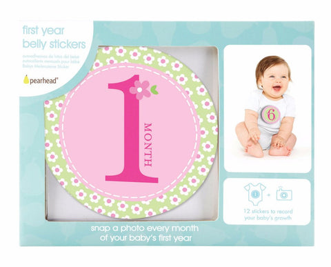 Pearhead HK Sale Baby Milestone Stickers Pink - BabyPark HK