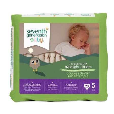 Seventh Generation Overnight Diapers Stage 6 (35+ lbs)
