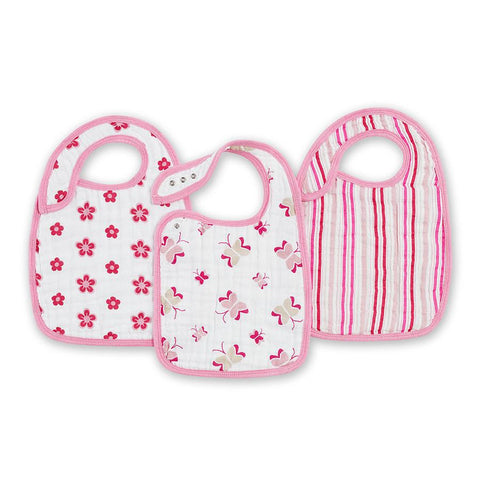 Aden and Anais Hong Kong Princess Posie Nibble Snap Bibs