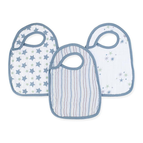Aden and Anais Hong Kong Prince Charming Nibble Snap Bibs