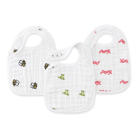 Aden and Anais Hong Kong Mod About Baby Nibble Snap Bibs