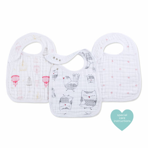 Aden and Anais Hong Kong Sale Classic Snap Bibs Lovebird 3 Pack