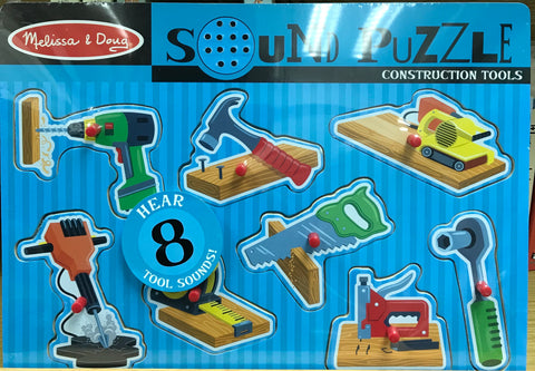 Melissa & Doug HK Sale Construction Tools Sound Puzzle