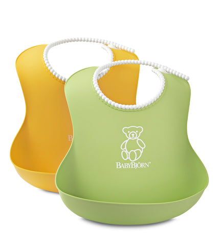BabyBjorn HK Sale Soft Bib 2-pack Green & Yellow