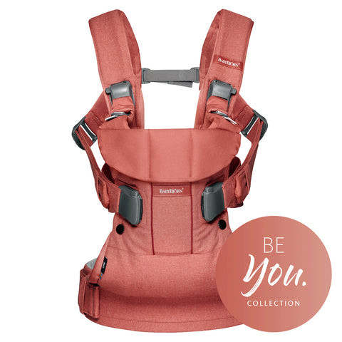 BabyBjorn HK Sale Baby Carrier One Cotton Terracotta Pink