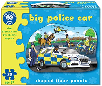 Orchard Toys HK Sale Big Police Car 30 Pieces Box