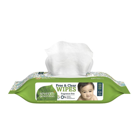 Seventh Generation Baby Wipes- with Flip Cap