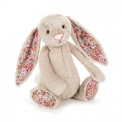 Jellycat Blossom Beige Small HK Bashful Bunny 18cm Front