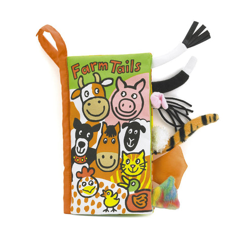 Jellycat HK Sale Farm tails book