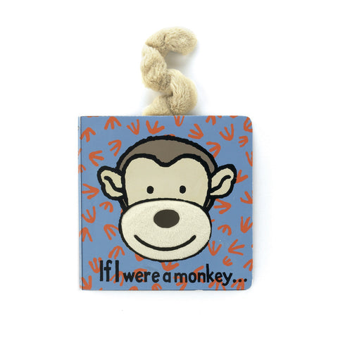 Jellycat Monkey Board Book HK - If I were a Monkey