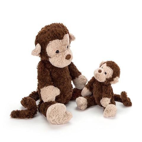 Jellycat HK Sale Mumble Monkey Small Family