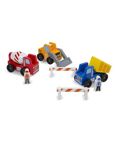 Melissa & Doug HK Sale Construction Vehicle Set