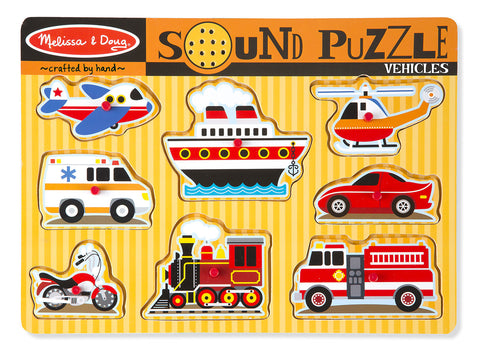 VEHICLES SOUND PUZZLE - BabyPark HK
