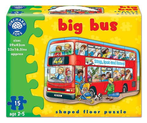 Orchard Toys HK Sale Big Bus 15 Pieces
