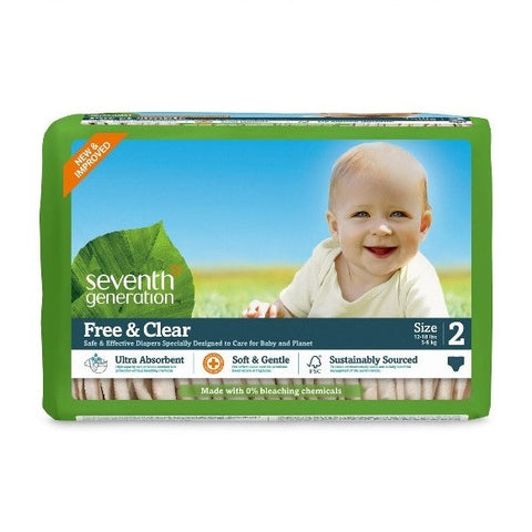 Seventh Generation Stage 2, 36ct (12-18 lbs) Diaper