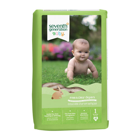 Seventh Generation Stage 1, 40ct (8-14 lbs) Diaper