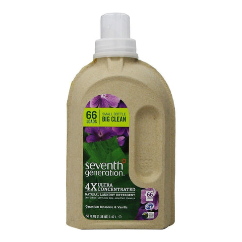 Seventh Generation 4X Laundry Liquid - Geranium Blossoms & Vanilla