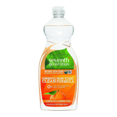 Seventh Generation Dish Liquid Lemongrass & Clementine Zest