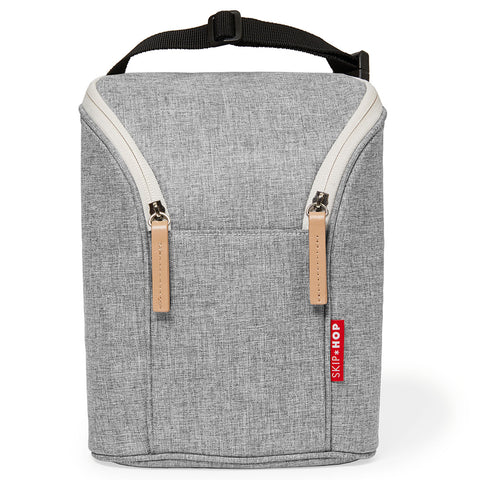Skip Hop Double Bottle Bag - Grey Melange