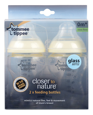 Tommee Tippee HK Sale CTN Glass Bottle 260ml Twin Pack