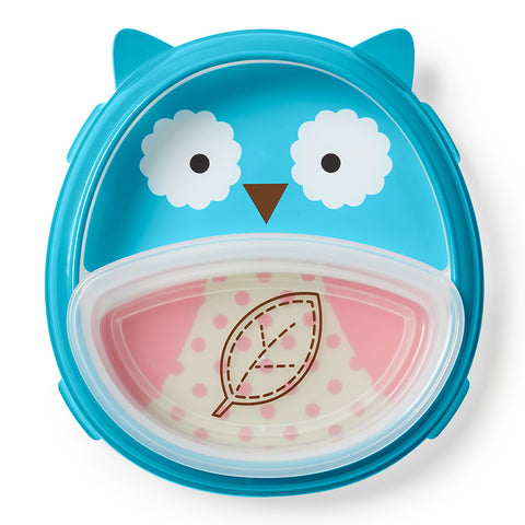 Skip Hop Zoo Smart Serve Plate & Bowl Set-Owl