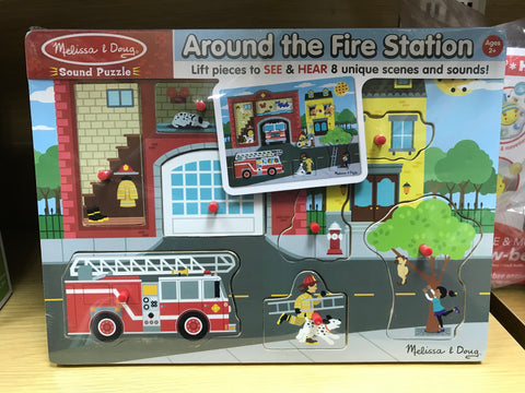 Melissa & Doug HK Sale Around the Fire Station Sound Puzzle
