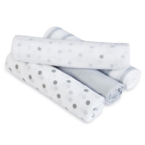 Aden and Anais Hong Kong Sale Swaddle Plus Dove 4 Pack
