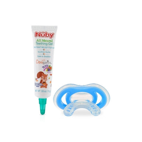 Nuby HK Sale All Natural Teething Gel with Gum-eez䋢 Teether