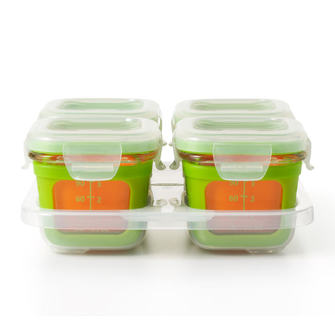 Oxo HK Sale Oxo Tot Glass Baby Blocks 4 Oz - Green 1
