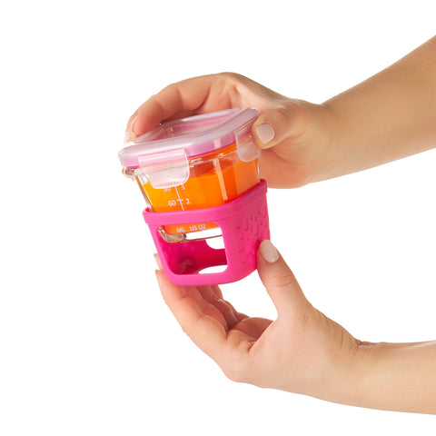 Oxo HK Sale Oxo Tot Glass Baby Blocks 4 Oz - Pink HK$279.00 1