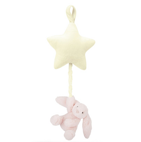 Jellycat HK Sale Bashful Pink Bunny Star Musical Pull