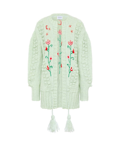 Gloria Embroidered Midi Cardigan