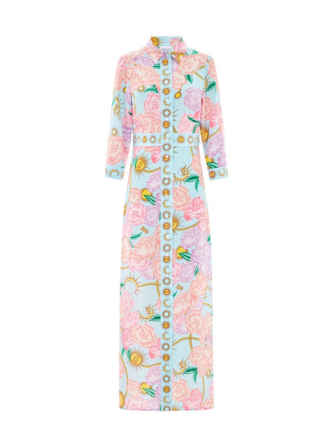 Luna Flora Long Shirt Dress