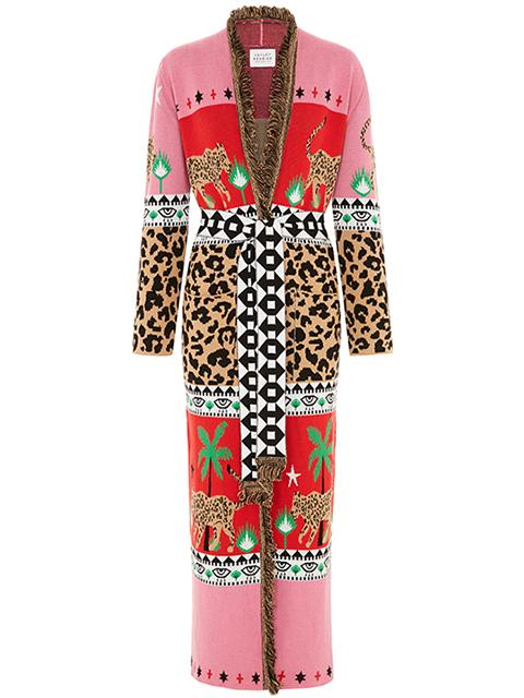 Leopardess Duster - Red/Pink