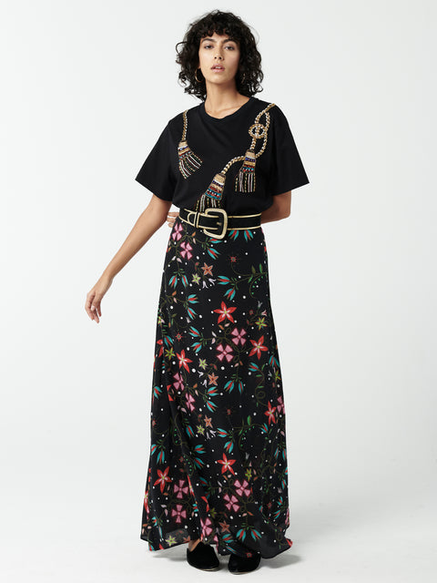 Siouxsie Silk Maxi Skirt