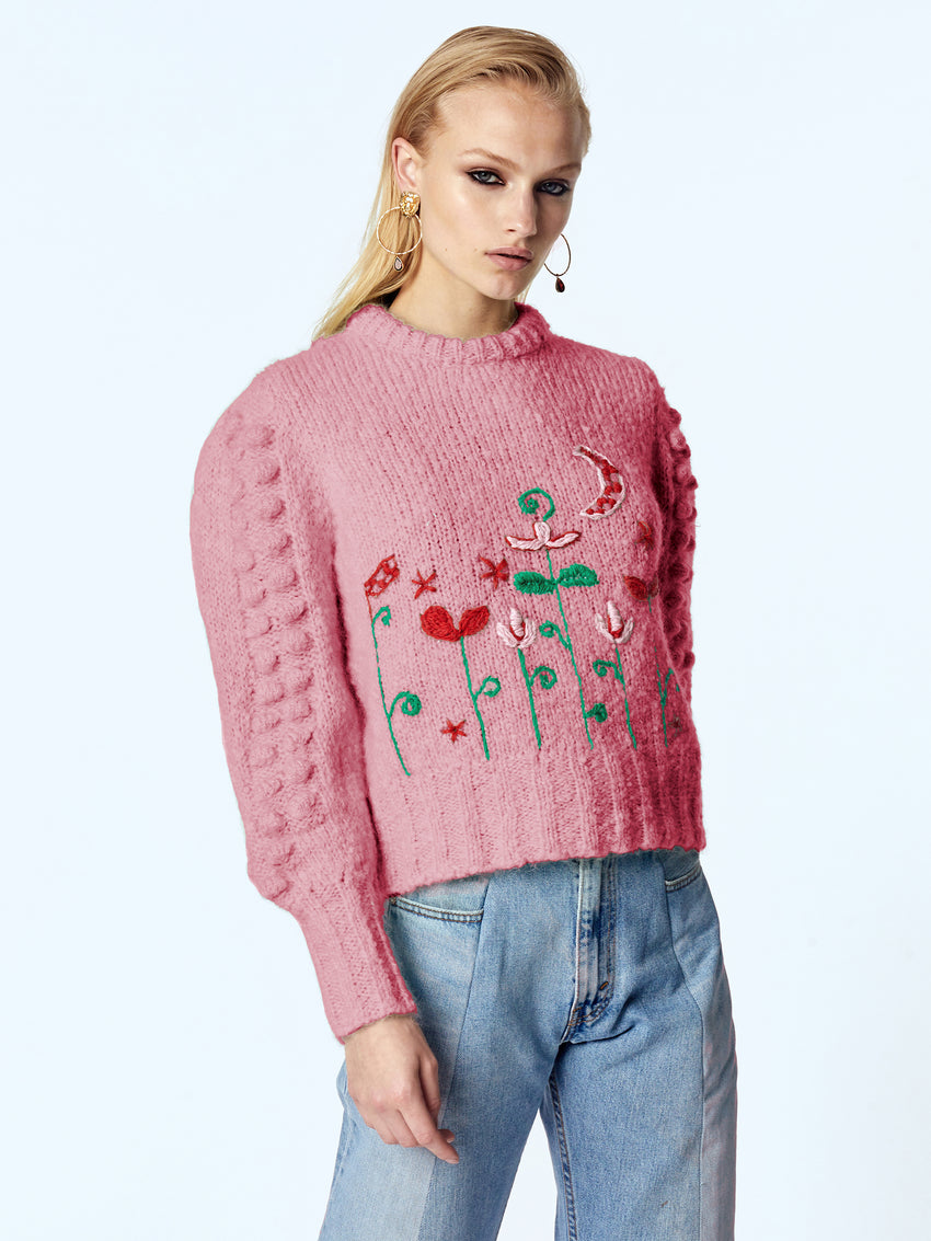 Gloria Embroidered Mohair Jumper