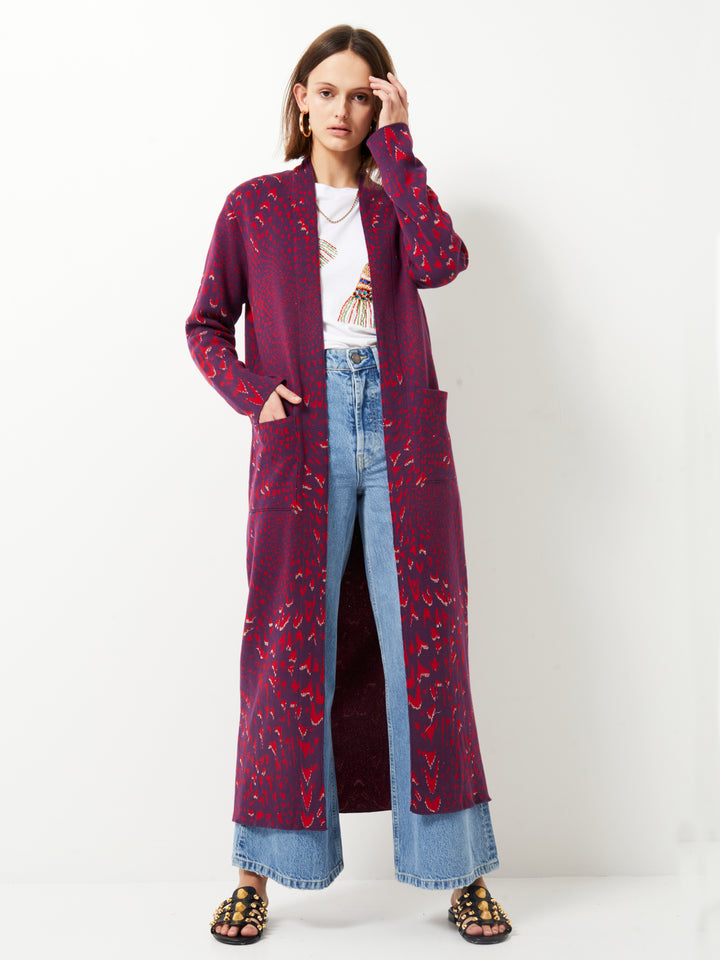 Wings Cotton Jacquard Duster
