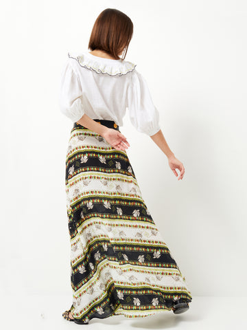The Drifters Silk Maxi Skirt